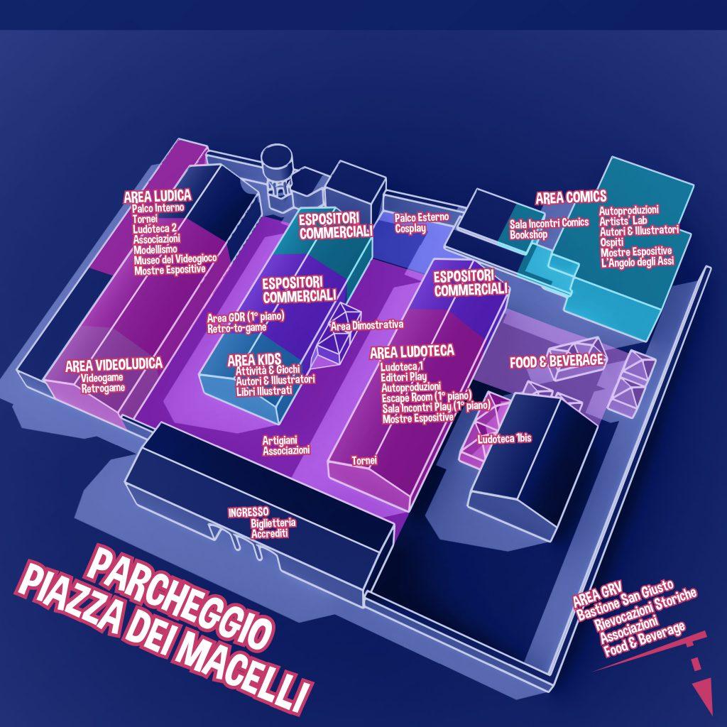 Pianta officina Prato comics 2018